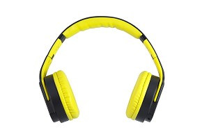 TekNmotion FlipSoundz Bluetooth Headset / Flip out Speaker  - Yellow