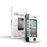 TekNmotion Real Glass Screen Shield for iPhone 4/4S (White)