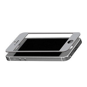 TekNmotion Real Glass Screen Shield for iPhone 5 & 5S (Silver)