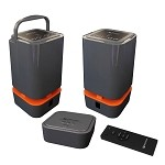 Wolverine WS58V2 Portable Wireless Outdoor-Indoor Dual Band Twin Speakers